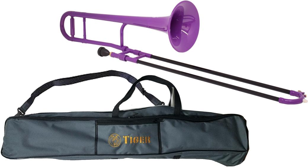 Tiger ( タイガー ) 【予約】 トロンボーン TTB-04 パープル 調整品 新品 アウトレット プラスチック製 テナートロンボーン 管楽器 本体 樹脂製 紫色 【 TTB04 purple 楽器 】 送料無料