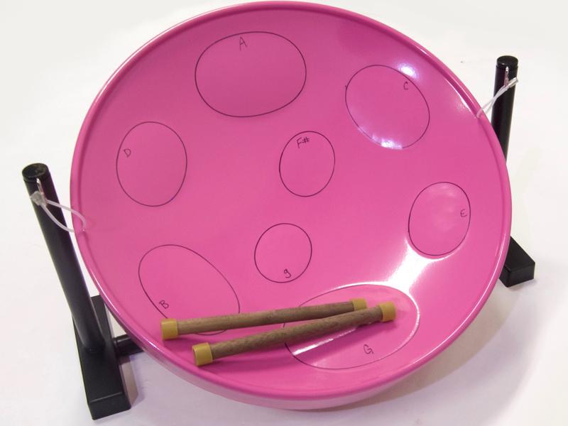 スティールパン ) ジャンビージャム Jumbie ドラム・パーカッション 【ビギナー向け Jumbie スティールドラム テーブルKit(PINK) Jam ( Jam 】