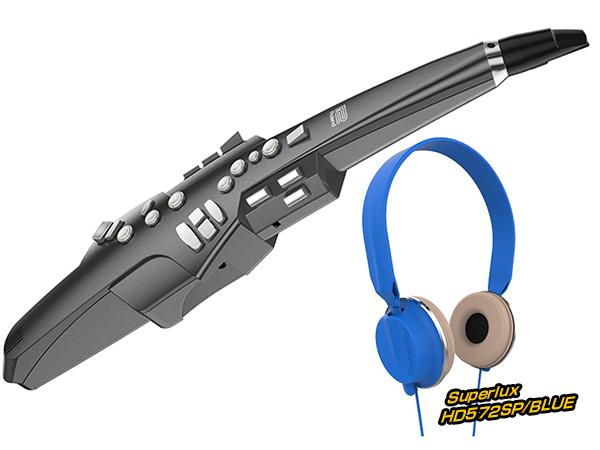 Roland ( ローランド ) AE-10G ヘッドフォン セット ブルー ◆【AE10GHEADSETBL】 ◆【送料無料】【ウィンドシンセサイザー】