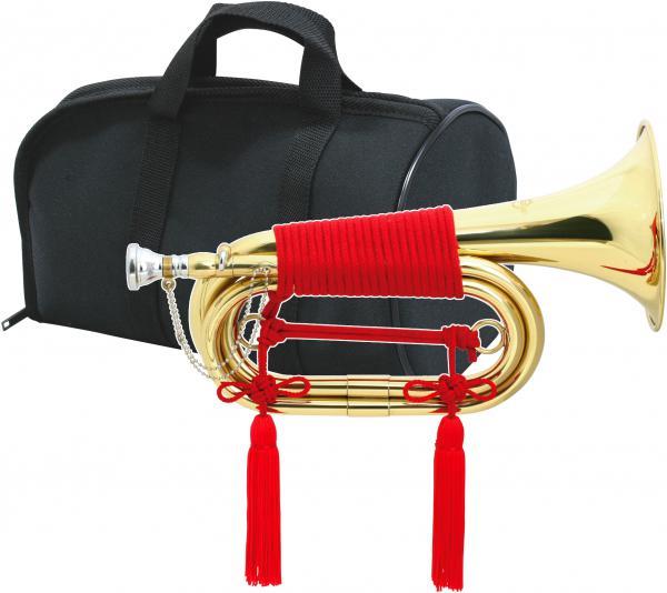 MAXTONE ( マックストーン ) 信号ラッパ TB-3L 3つ巻 ねじ込み式 マウスピース お祭り 楽器 軍隊 ラッパ 吹奏 号令 バルブなし ケース付き ゴールド 凧ラッパ 3連タイプ 送料無料