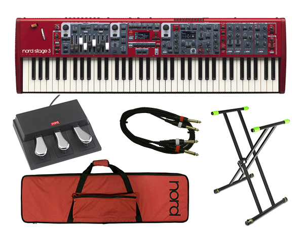 CLAVIA Nord Stage 3 compact ライブセット 1  ◆【送料無料】【73鍵盤】【ピアノ】【オルガン】【シンセサイザー】【DTM】【DAW】【smtb-k】