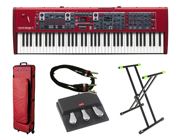 CLAVIA Nord Stage 3 HP 76 ライブセット 1 ◆【送料無料】【76鍵盤】【ピアノ】【オルガン】【シンセサイザー】【DTM】【DAW】【smtb-k】