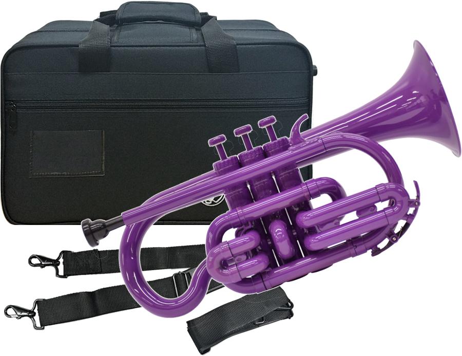 Tiger ( タイガー ) コルネット CN-04 パープル 調整品 新品 アウトレット プラスチック製 管楽器 本体 B♭ 樹脂製 紫色 【 CN04 Purple 楽器 】 送料無料
