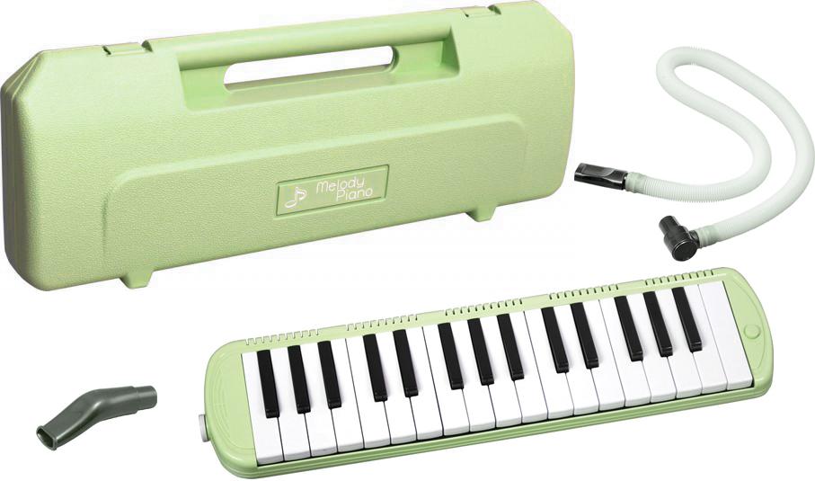 KC ( キョーリツコーポレーション ) P3001-32K UGR 32鍵 鍵盤ハーモニカ アルト メロディー ピアノ うすい グリーン  Melody Piano Light green 楽器 北海道 沖縄 離島不可