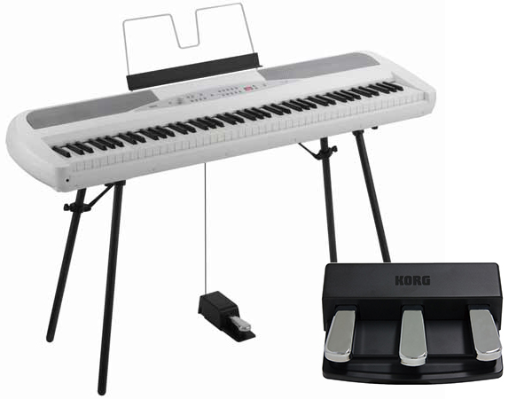 KORG ( コルグ ) SP-280-WH 純正ペダルセット 【OUTLET】【[ 18 KORG ]】【[台数限定/在庫限り]】 ◆【送料無料】【電子ピアノ】【88鍵盤】【ピアノタッチ】
