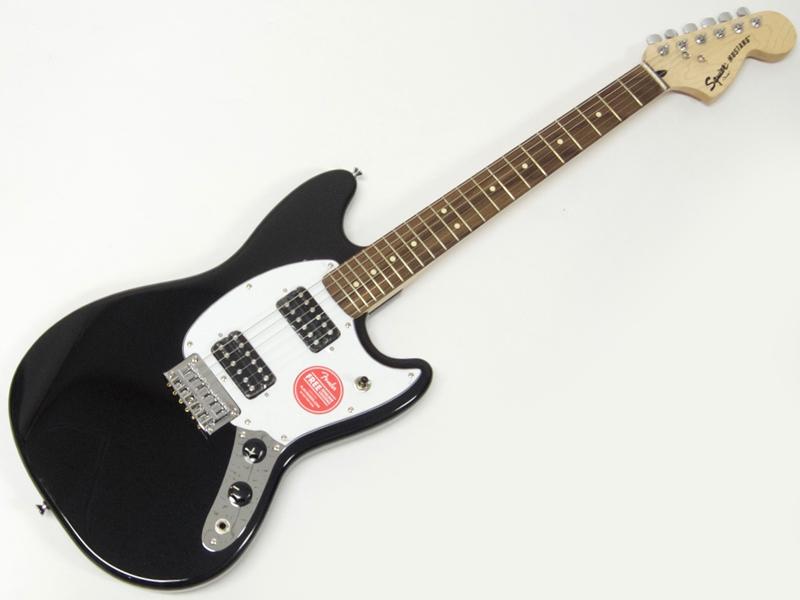SQUIER ( スクワイヤー ) Bullet Mustang HH (BLK) 【ムスタング by フェンダー】【302200572】【C3316 モノグラム・ストラップ プレゼント 】 エレキギター