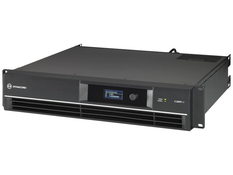DYNACORD ( ダイナコード ) C2800FDi DSP搭載 固定設備向け パワーアンプ 700W+700W (8Ω) /ハインピーダンス 2500W (100V) [ C series ][ 送料無料 ]