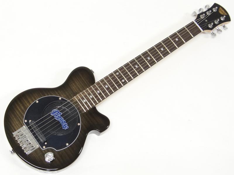 Pignose ( ピグノーズ ) PGG-200FM (SBK)【アンプ内蔵 エレキギター ミニギター  】 PGG200 フレイムメイプル