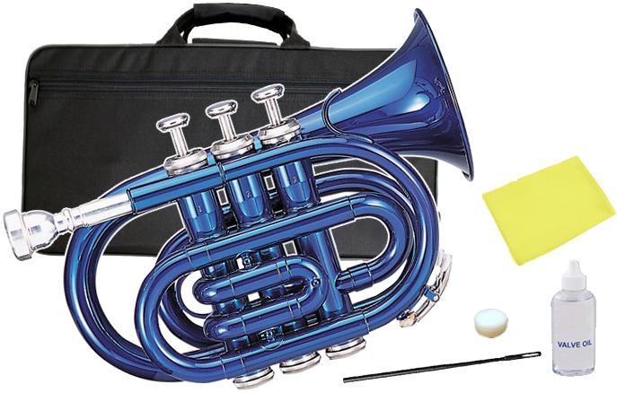 Kaerntner ( ケルントナー ) KTR-33P BLUE ポケットトランペット 青色 新品 管体 ブルー ミニ トランペット B♭ KTR33P BL メタリックブルー 管楽器 本体