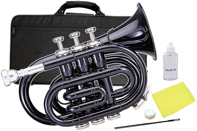 Kaerntner ( ケルントナー ) KTR-33P Black ポケットトランペット 黒色 新品 管体 ブラック ミニ トランペット B♭ KTR33P BK スタンダード 管楽器 本体 送料無料