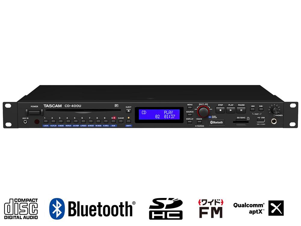 感謝の声続々! TASCAM ( タスカム ) CD-400U CD-400U 送料無料◆ Bluetooth/AM ]・FM チューナー搭載 CD/SD/USB プレーヤー [ 送料無料 ], サングラージャパン:db291c52 --- canoncity.azurewebsites.net