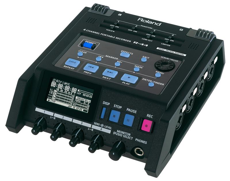 Roland ( ローランド ) R-44 ◆ ポータブルレコーダー・ミキサー ( R-44E ) [ 送料無料 ]