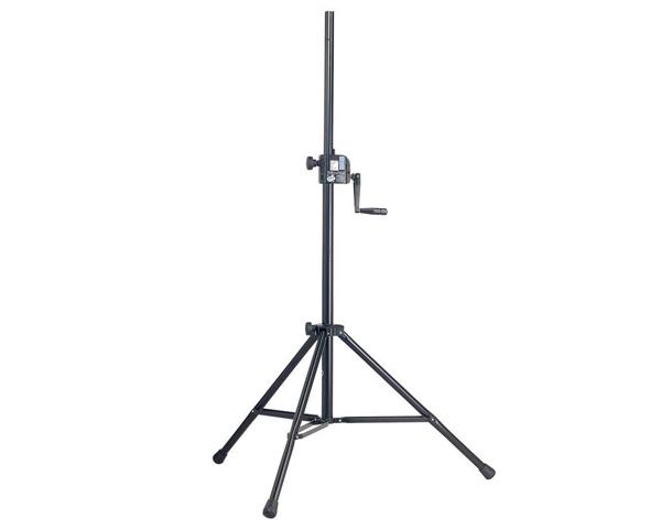 K&M ( ケーアンドエム ) 21300 (1本) ◆ スピーカースタンド ( 高さ調整用ハンドル付 )
