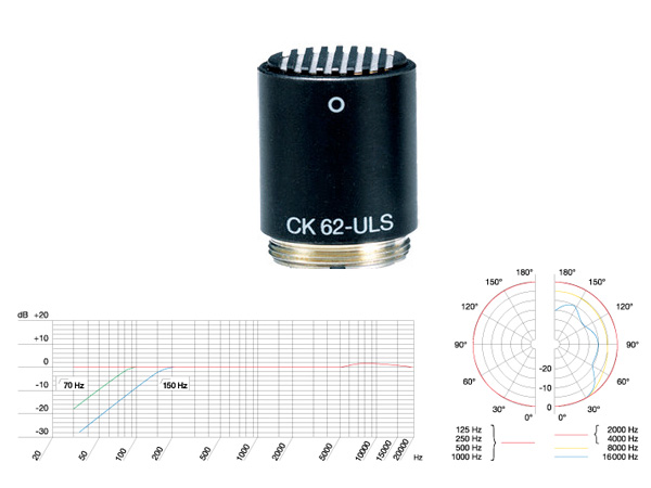 AKG ( エーケージー ) CK62-ULS ◆ コンデンサーマイク用カプセル [ 送料無料 ]