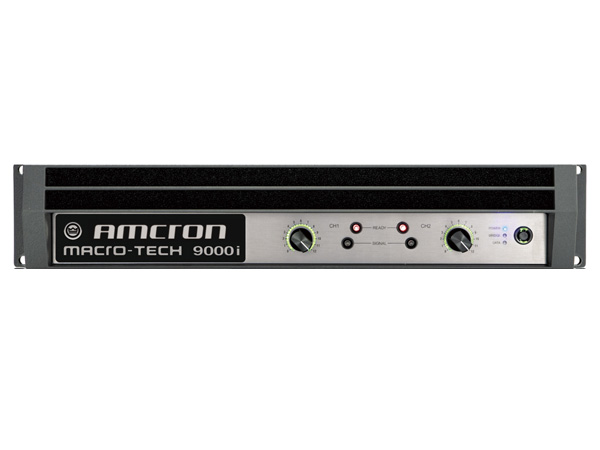 AMCRON ( アムクロン ) MA-9000i ◆ パワーアンプ ・1500W+1500W 8Ω ・C型コネクター電源ケーブル [ Macro-Tech I series ]
