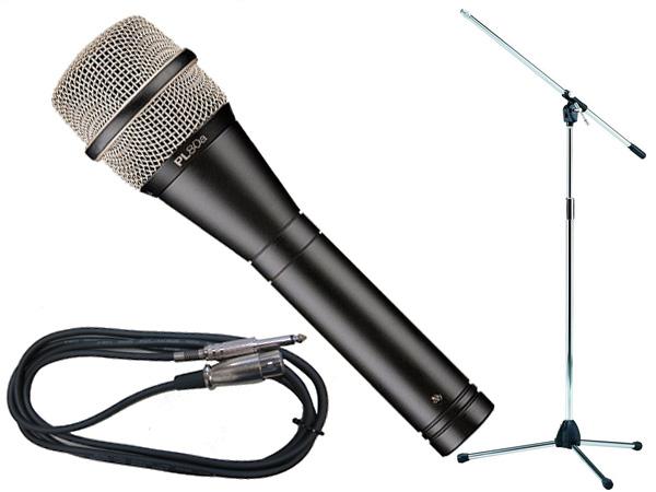 Electro-Voice ( EV エレクトロボイス ) PL80a TAMAシルバーマイクスタンドSET (フォーン-XLR) [ PL series ][ 送料無料 ]