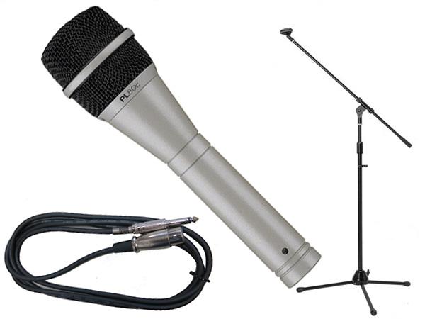 Electro-Voice ( EV エレクトロボイス ) PL80c 三脚マイクスタンドSET(フォーン-XLR) ◇ ブーム/ストレートタイプ両対応のマイクスタンドと5メートルのマイクケーブル のお得なセット [ PL series ][ 送料無料 ]