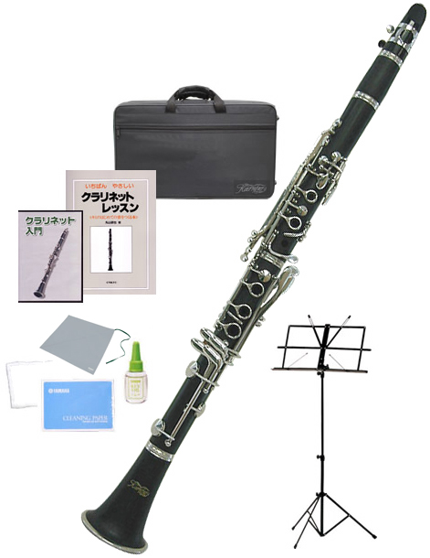 Kaerntner ( ケルントナー ) KCL27 クラリネット 新品 ABS樹脂製 管体 スタンダード B♭ 本体 初心者 管楽器 ケース マウスピース clarinet 【 KCL-27 セット D】 送料無料