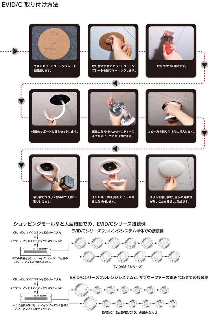 Electro-Voice ( EV エレクトロボイス ) EVID C4.2 (ペア) ◆ 天井埋込型スピーカー・シーリング型 [ EVID series ][  ]