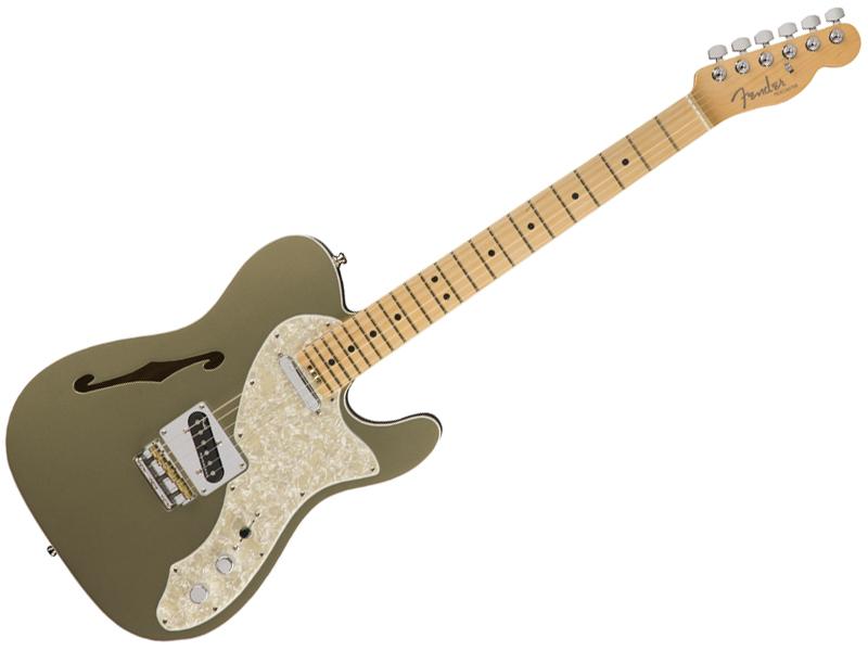 Fender ( フェンダー ) American Elite Telecaster Thinline (Champagne/M) 【USA テレキャスター シンライン エリート】【0114312774】 エレキギター