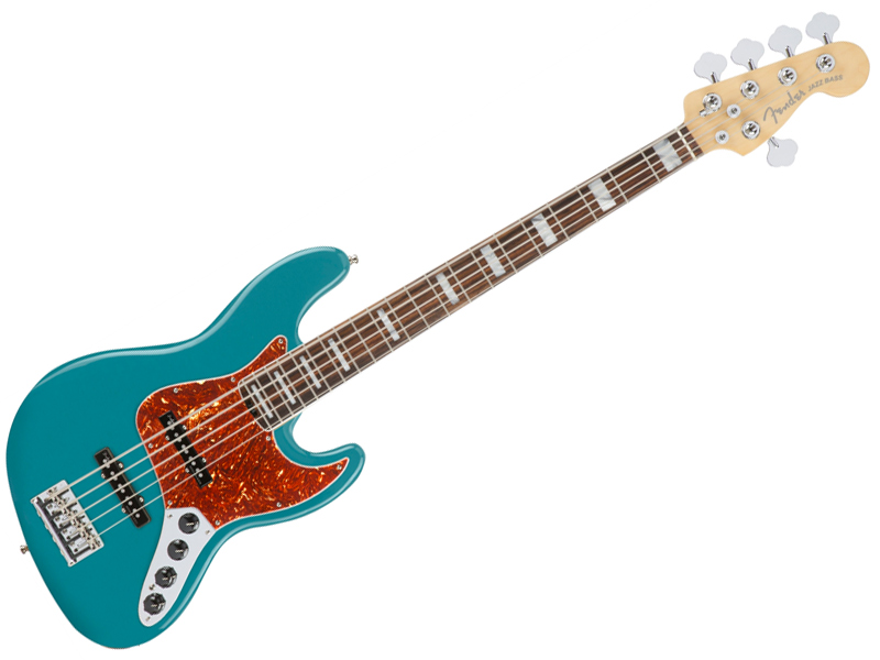 Fender ( フェンダー ) American Elite Jazz Bass V (Ocean Turquoise/E) 【USA アメリカン エリート 5弦 ジャズベース 】【197101708】