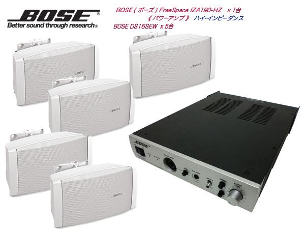 BOSE ( ボーズ ) DS16SW 壁面取付 HIセット( IZA190-HZ )  ホワイト 5台【(DS16SWx5+IZA190-HZx1)】 [ 送料無料 ][ DS series ]