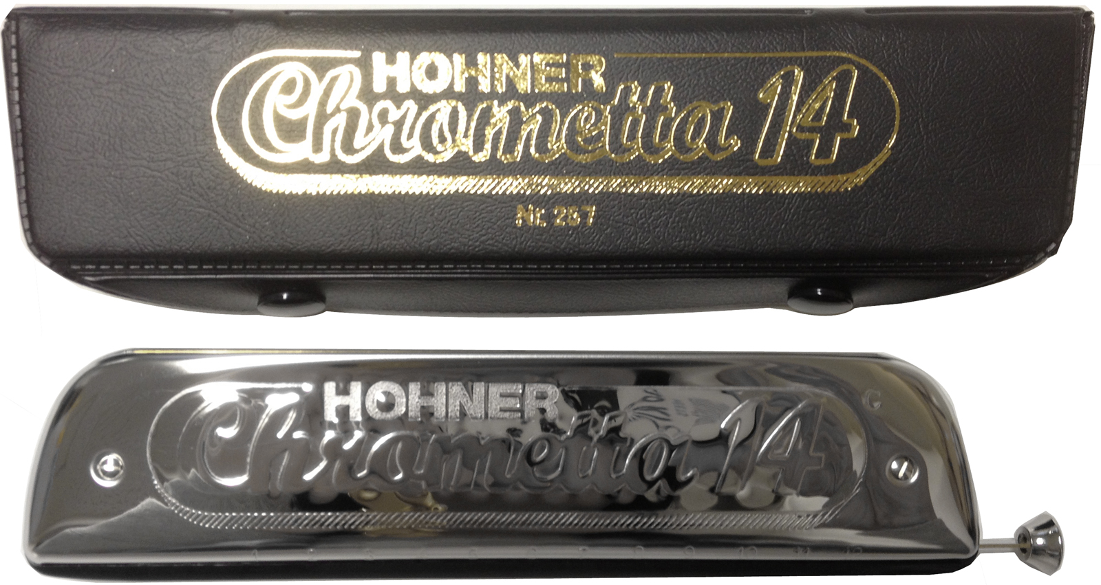 HOHNER ( ホーナー ) クロメッタ14 クロマチックハーモニカ 14穴 C調 スライド式 3オクターブ半 ハーモニカ 257/56 Chrometta 14 楽器 Chromatic Harmonica 北海道/沖縄/離島不可=送料実費請求