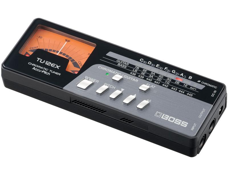 BOSS ( ボス ) TU-12EX クロマチックチューナー 針式 アナログ表示 ギター 管楽器 ウクレレ 他 半音下げ可 チューナー 内蔵マイク イン/アウト Chromatic Tuner