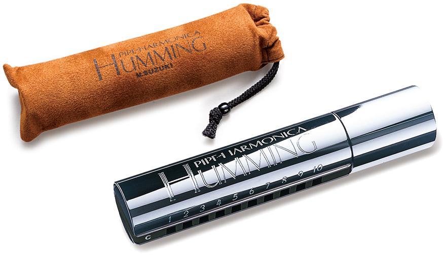 SUZUKI ( スズキ ) B♭調 HUMMING PH-20N 10穴 ハーモニカ パイプ ビブラート効果 20音 ハミング テンホールズ ブルースハーモニカ ダイアトニック シングル ハープ
