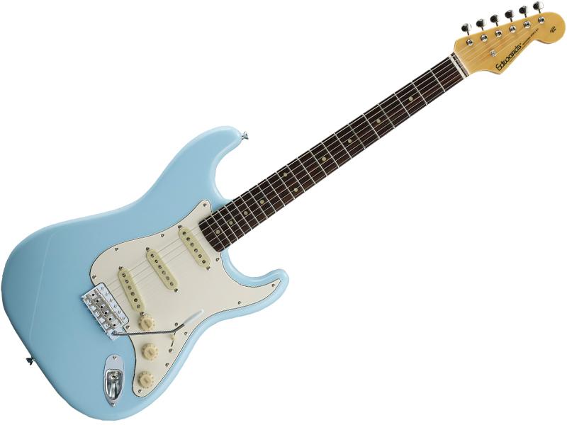 EDWARDS ( エドワーズ ) E-ST-125ALR ( Sonic Blue  )【エレキギター】