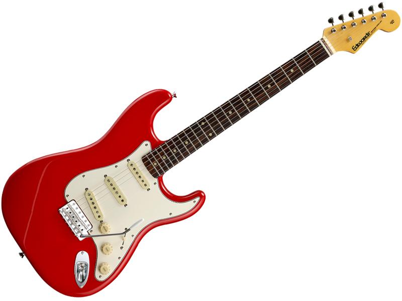 ) ( Trino )【エレキギター】【C3670 ( プレゼント E-ST-125ALR 】 Red ジェットグロス エドワーズ EDWARDS
