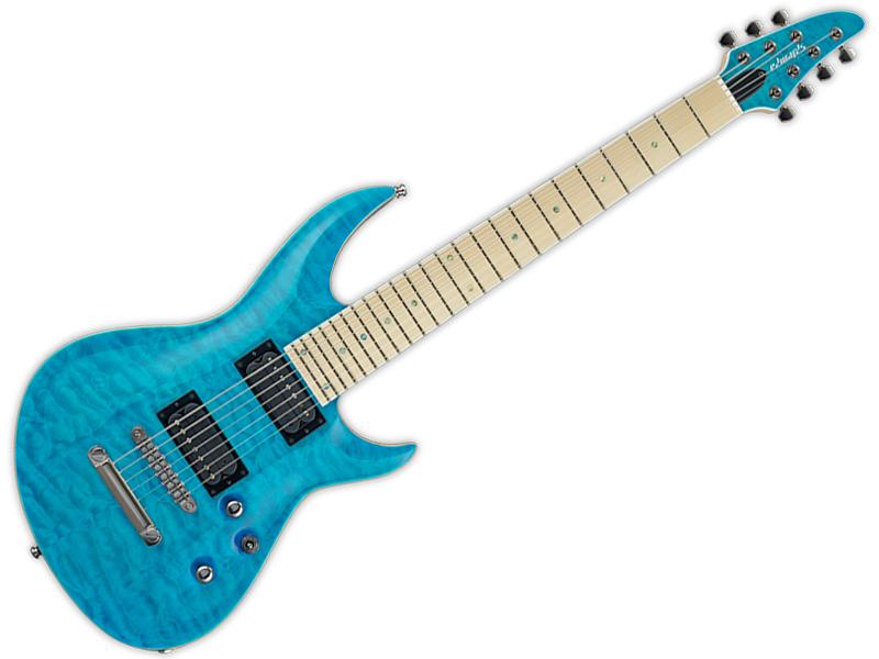 EDWARDS ( エドワーズ ) E-HR-III NT7 QM/M(Aqua Marine)【7弦 エレキギター ホライズン】)