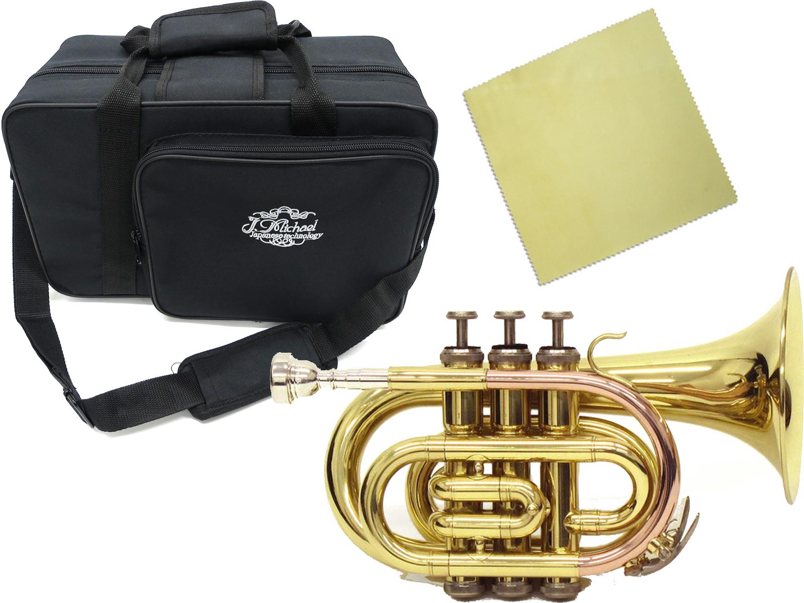 J Michael ( Jマイケル ) TR-350PL ポケットトランペット 新品 アウトレット 新品 ミニ トランペット ゴールド 管楽器 mini pocket trumpet gold TR350PL