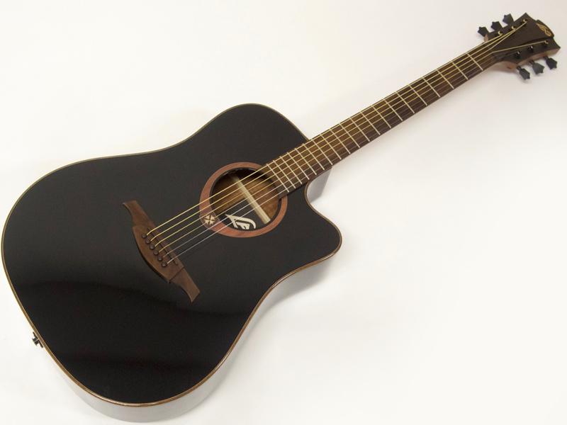 LAG Guitars T100DCE(BLK)【アコースティックギター エレアコ 特価品 】