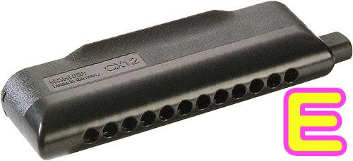 HOHNER ( ホーナー ) 【 E調 】 CX12 Black クロマチックハーモニカ 7545/48B CX-12 ブラック 12穴 3オクターブ スライド式 アッセンブリー ハーモニカ 楽器 送料無料
