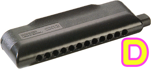 HOHNER ( ホーナー ) 【 D調 】 CX12 Black クロマチックハーモニカ 7545/48B CX-12 ブラック 12穴 3オクターブ スライド式 アッセンブリー ハーモニカ 楽器 送料無料