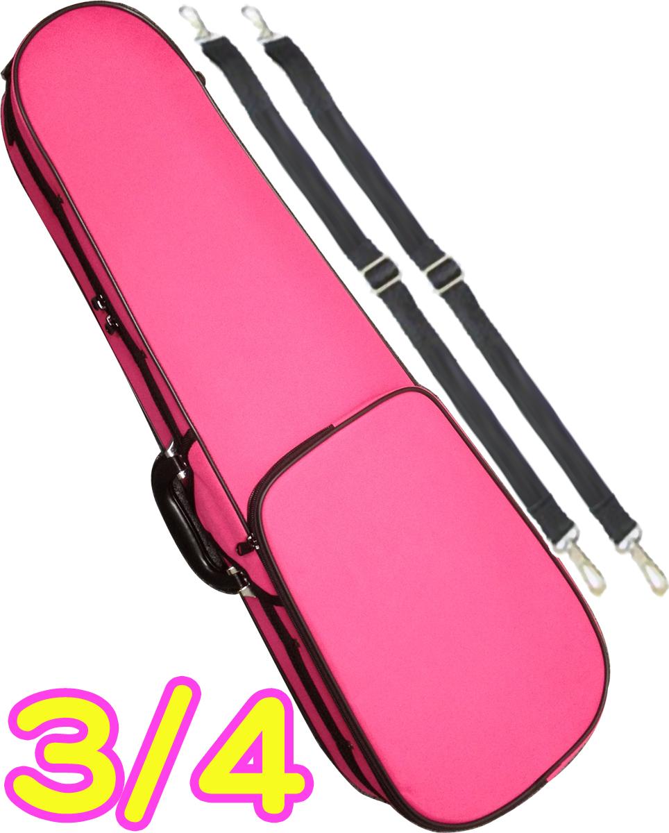 CarloGiordano ( カルロジョルダーノ ) TRC-100C ピンク DPK 3/4 バイオリンケース 子供用 リュック セミハードケース 4分の3 ケース violin case pink 北海道 沖縄 離島不可