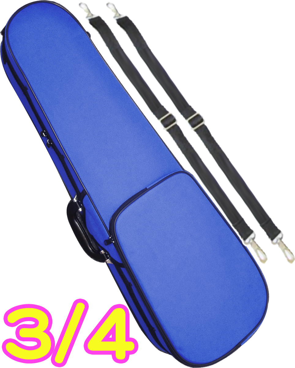 CarloGiordano ( カルロジョルダーノ ) TRC-100C ブルー MBL 3/4 バイオリンケース 子供用 リュック セミハードケース 4分の3 ケース violin case blue 青色 北海道 沖縄 離島不可