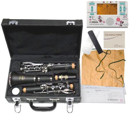 MAXTONE ( マックストーン ) CL-40 クラリネット 新品 出荷前調整! 初心者 管楽器 プラスチック製 B♭ 本体 マウスピース リード 樹脂製 clarinet 【 CL40 セット J】 送料無料