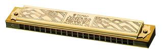 TOMBO ( トンボ ) 【 A♯ 】 1921 ゴールド 超特級 複音ハーモニカ 21穴 トレモロハーモニカ No.1921 メジャー 長調 tremolo harmonica 木製ボディ リード 楽器 ハーモニカ