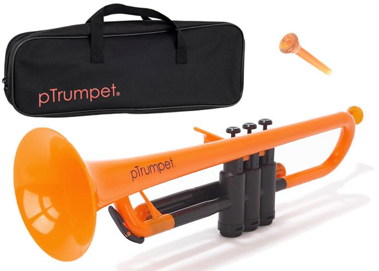 PINSTRUMENTS PTRUMPET1OR オレンジ pTrumpet プラスチック製 トランペット B♭管 管楽器 Pトランペット 本体 マウスピース ケース trumpet orange 一部送料追加 送料無料(北海道/沖縄/離島不可)