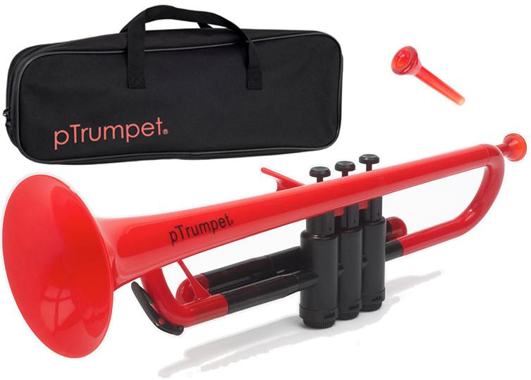 PINSTRUMENTS PTRUMPET1R レッド pTrumpet 新品 プラスチック製 トランペット B♭管 管楽器 Pトランペット 本体 マウスピース ケース trumpet red 一部送料追加 送料無料(北海道/沖縄/離島不可)