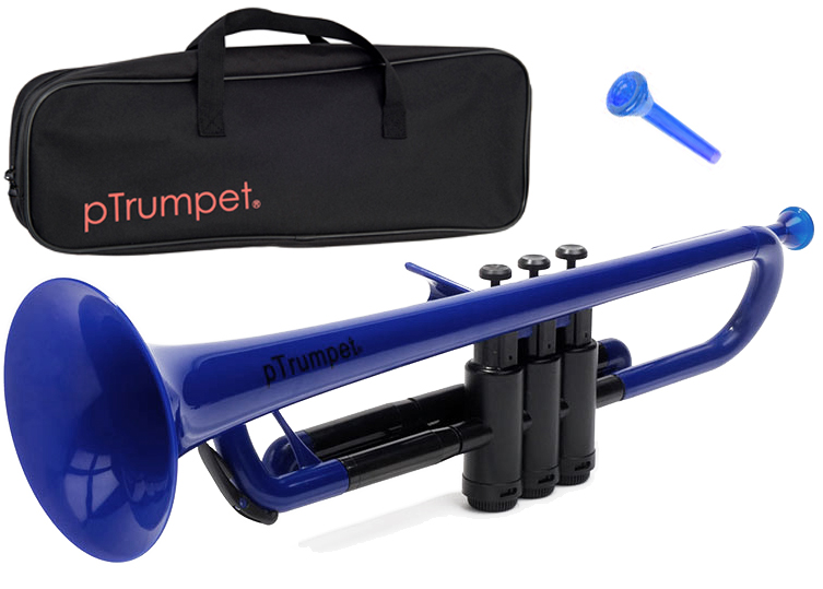 PINSTRUMENTS PTRUMPET1B ブルー pTrumpet 新品 プラスチック製 トランペット B♭管 管楽器 Pトランペット 本体 マウスピース ケース trumpet blue 一部送料追加 送料無料(北海道/沖縄/離島不可)