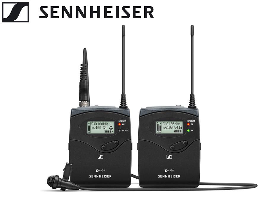 SENNHEISER ( ゼンハイザー ) EW 112P G4-JB ◆ ワイヤレスマイクシステム ポータブル ラベリアマイクセット (無指向性タイピンマイク ME 2-II 付属)【EW112PG4-JB】 [ ワイヤレスシステム ][ 送料無料 ]