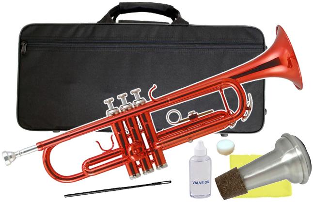 Kaerntner ( ケルントナー ) KTR-30 トランペット レッド 新品 初心者 管楽器 本体 赤色 メタリック カラー B♭ trumpets red 金管【 KTR30 MRD セット E】 送料無料