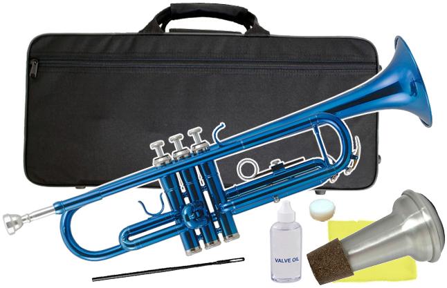 Kaerntner ( ケルントナー ) KTR-30 トランペット ブルー 新品 初心者 管楽器 本体 青色 メタリック カラー B♭ trumpets blue 金管 【 KTR30 MBL セット E】 送料無料