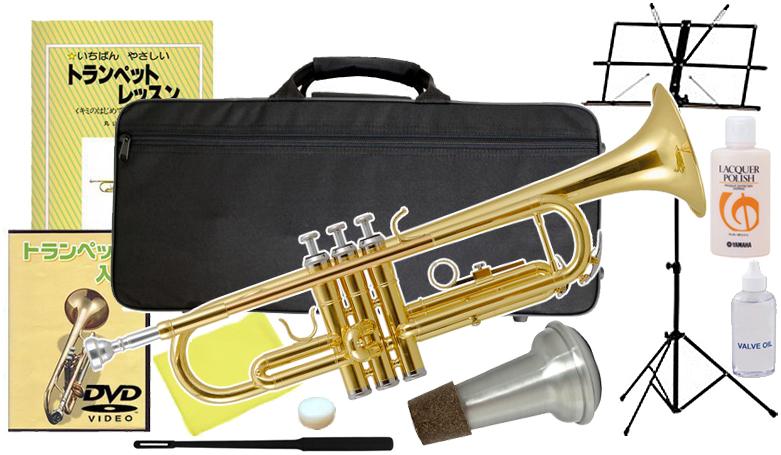 Kaerntner ( ケルントナー ) KTR-30 トランペット 新品 ゴールド 管楽器 初心者 スタンダード B♭調 本体 trumpet gold 【 KTR30 GOLD セット A】 送料無料
