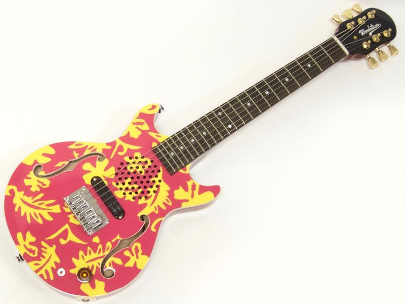 ESP助六スタイルのアロハ健カラーのミニギター! Woodstics Guitars ( ウッドスティック・ギターズ ) WS-MINI ALOHA ( PINK  YELLOW )【横山健 アンプ内蔵 ミニギター 】【新春特価! 】