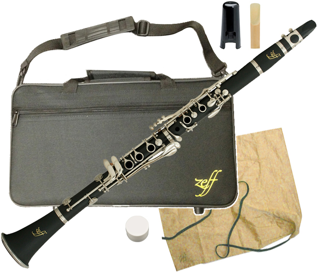 ZEFF ( ゼフ ) ZCL-30 クラリネット 新品 樹脂製 B♭ 本体 初心者 管楽器 プラスチック製 管体 マウスピース ケース 楽器 clarinet ZCL30 送料無料 北海道/沖縄/離島不可=送料実費請求