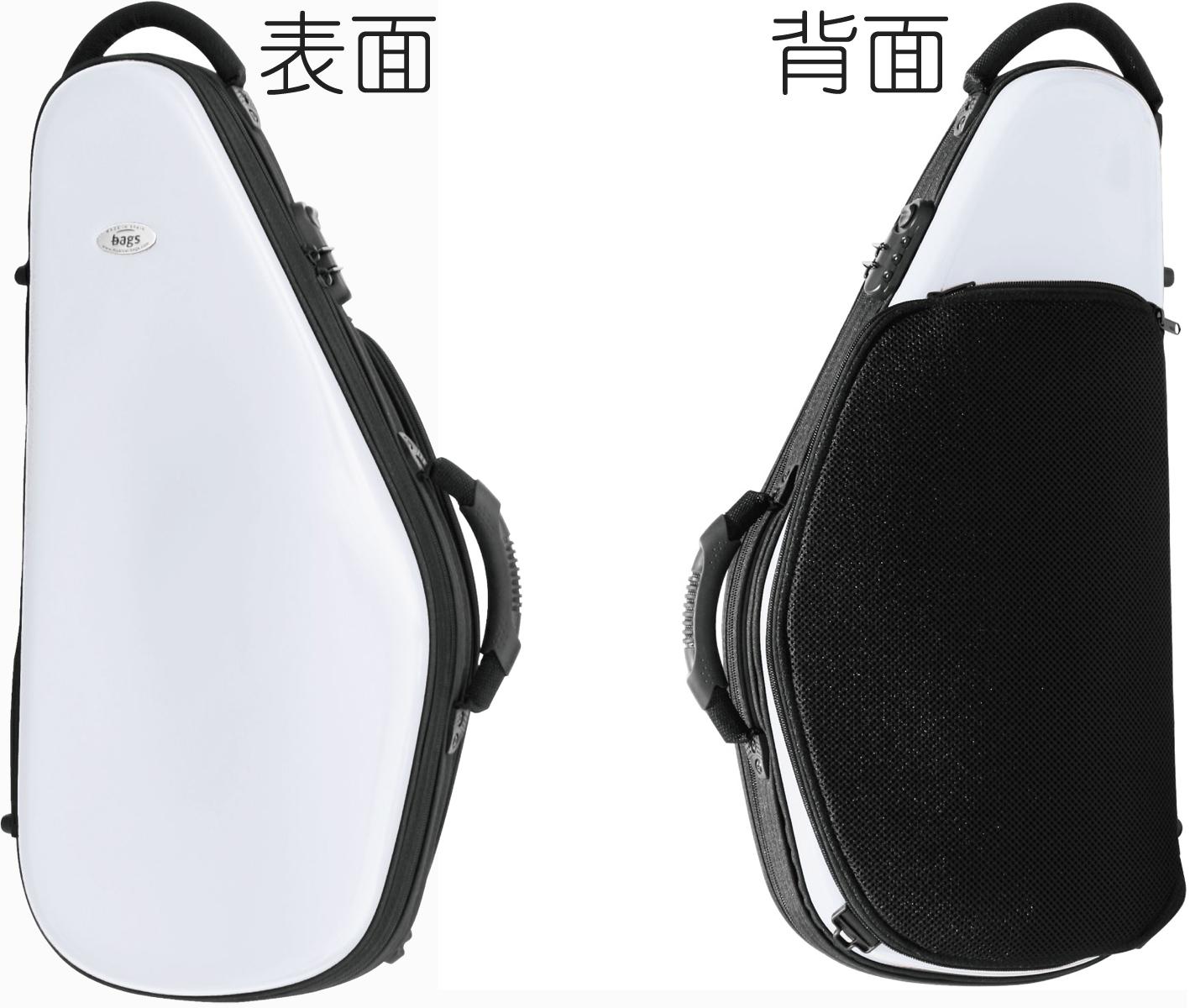 bags ( バッグス ) EFAS WHT アルトサックスケース ホワイト 白色 ハードケース アルトサックス用 リュックタイプ EVOLUTION alto saxophone case white 送料無料